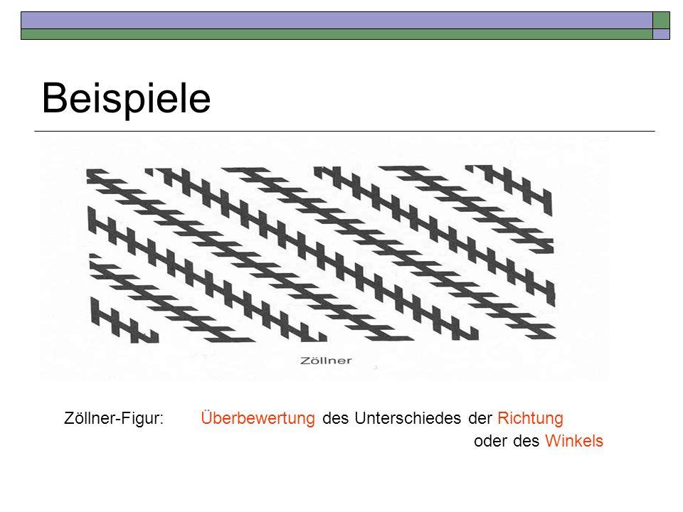 Beispiele Zöllner-Figur: Überbewertung des Unterschiedes der Richtung