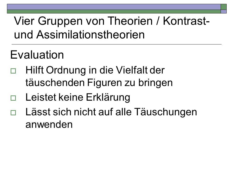 Vier Gruppen von Theorien / Kontrast- und Assimilationstheorien