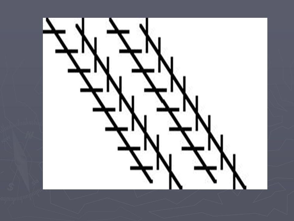 Zöllner-Illusion: Langen Parallel-Linien scheinen nicht parallel zu sein, Kontrast zwischen langen u.