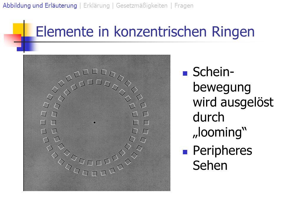 Elemente in konzentrischen Ringen