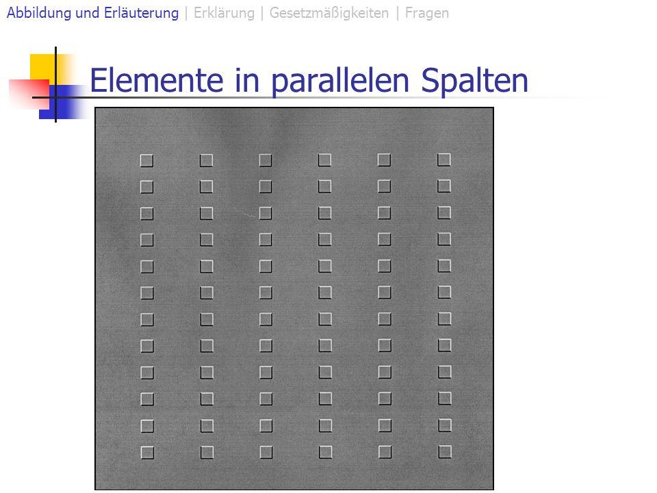 Elemente in parallelen Spalten