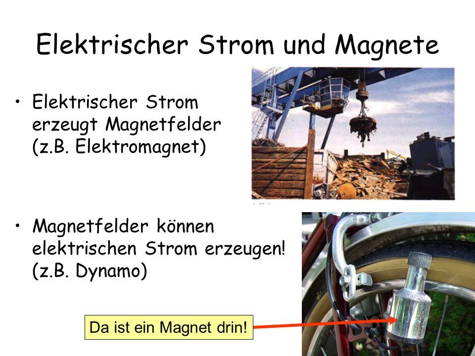 Elektrischer Strom und Magnete