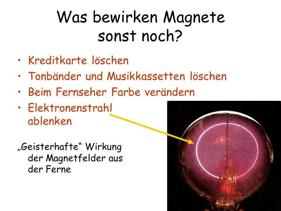 Was bewirken Magnete sonst noch