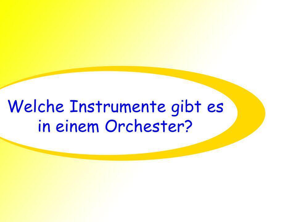 Welche Instrumente gibt es in einem Orchester