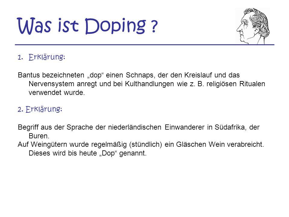 Was ist Doping Erklärung: