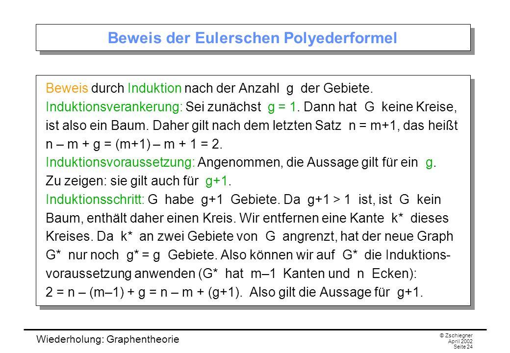 Beweis der Eulerschen Polyederformel