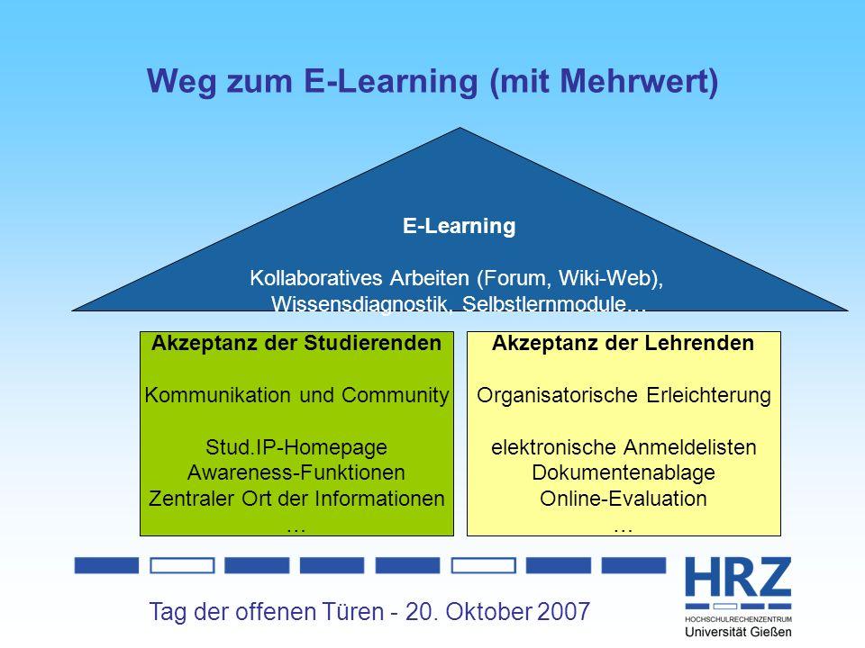 Weg zum E-Learning (mit Mehrwert)