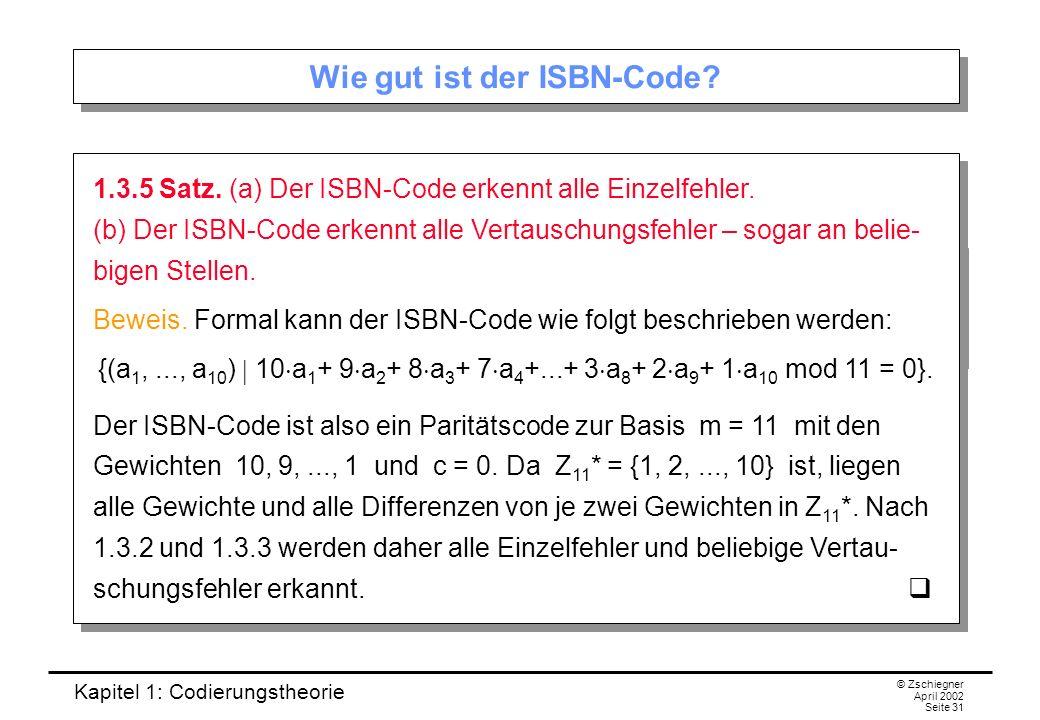 Wie gut ist der ISBN-Code