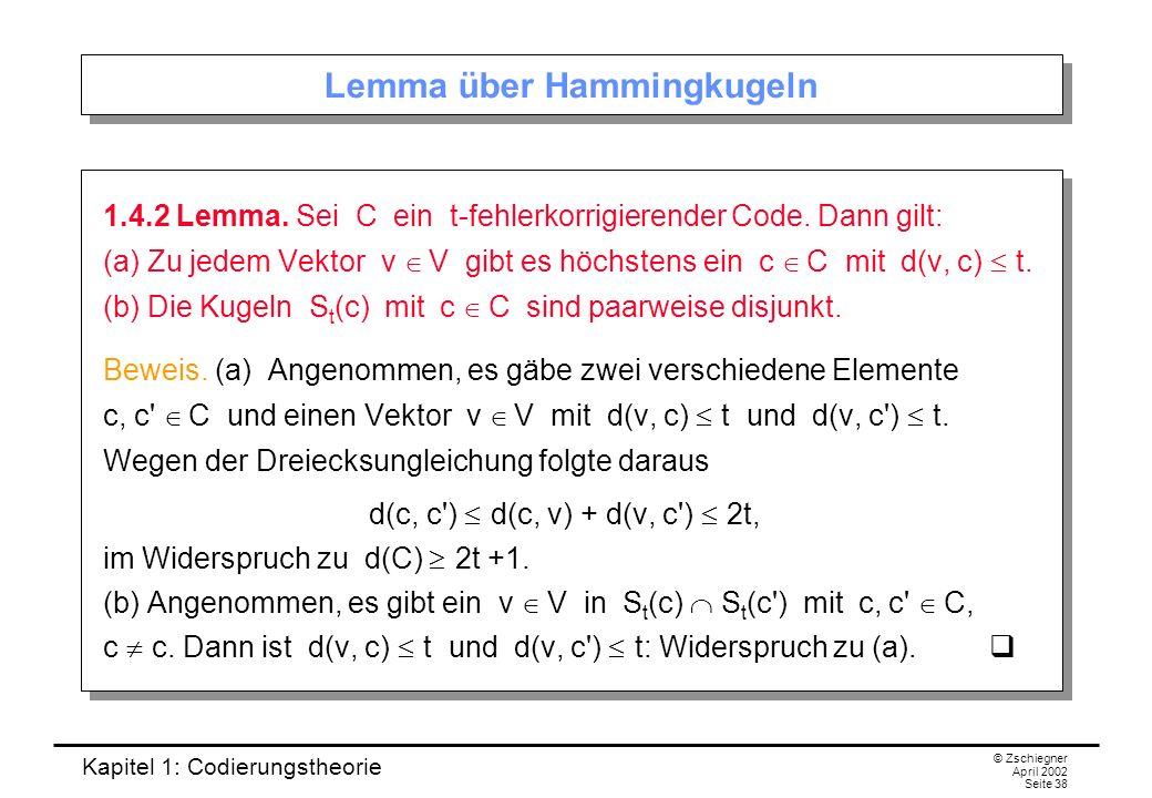 Lemma über Hammingkugeln