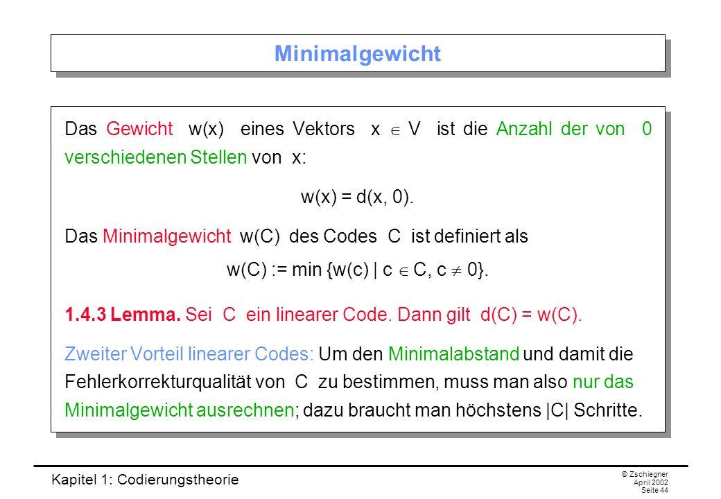 w(C) := min {w(c) | c Î C, c ¹ 0}.
