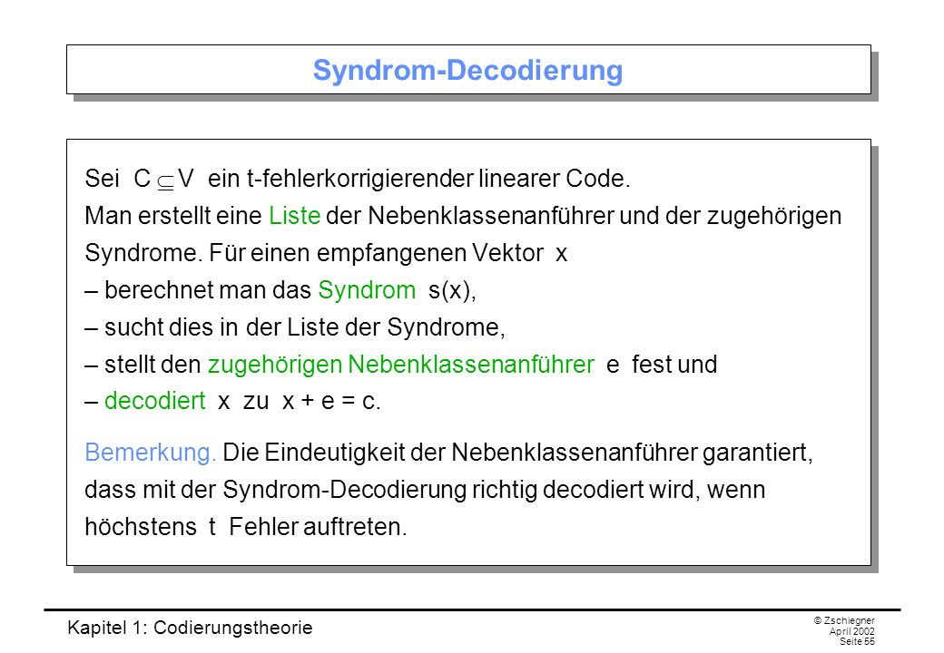 Syndrom-Decodierung