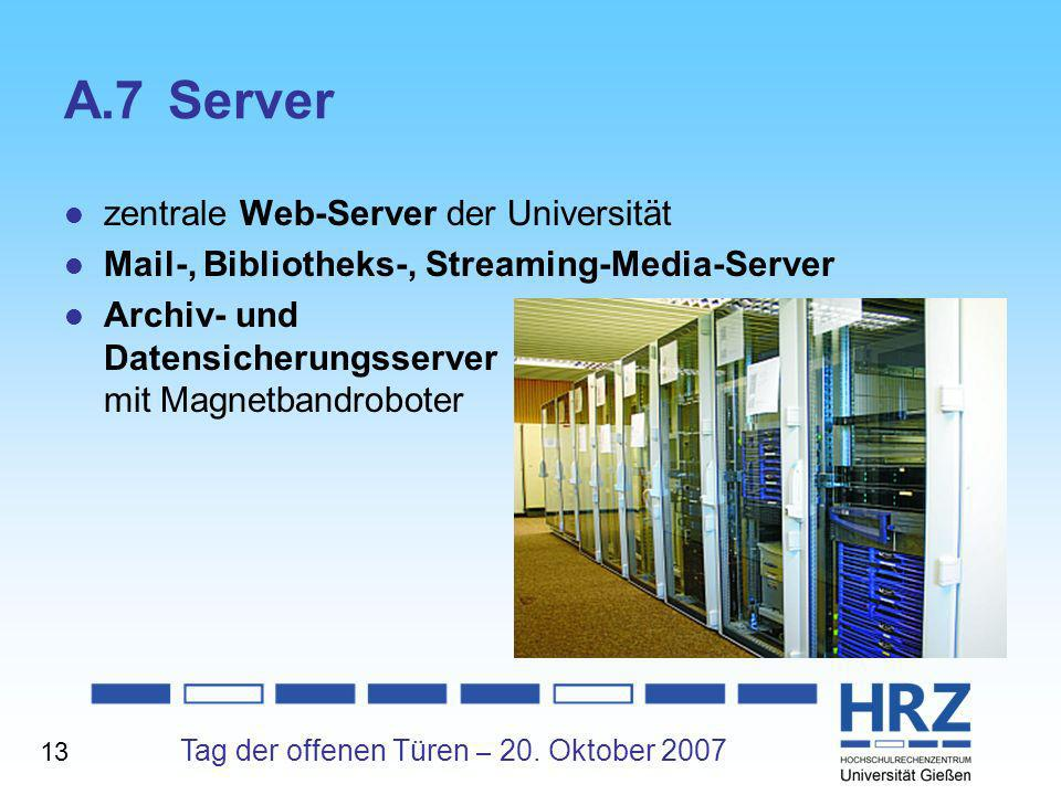 A.7 Server zentrale Web-Server der Universität