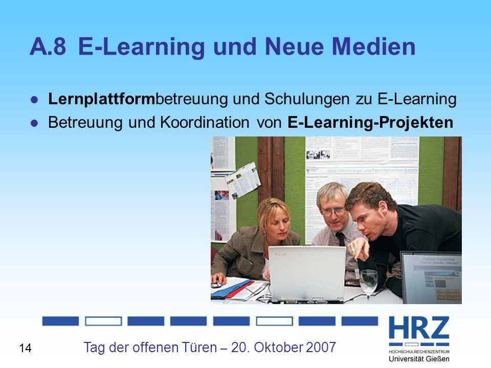 A.8 E-Learning und Neue Medien