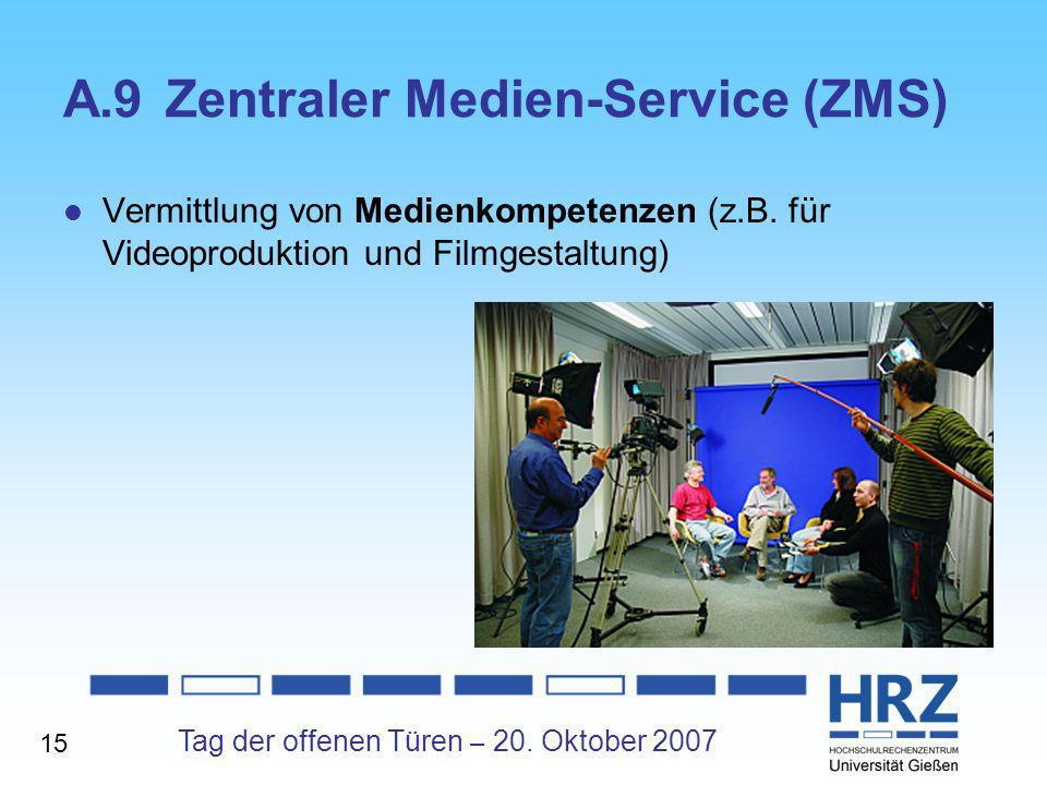 A.9 Zentraler Medien-Service (ZMS)