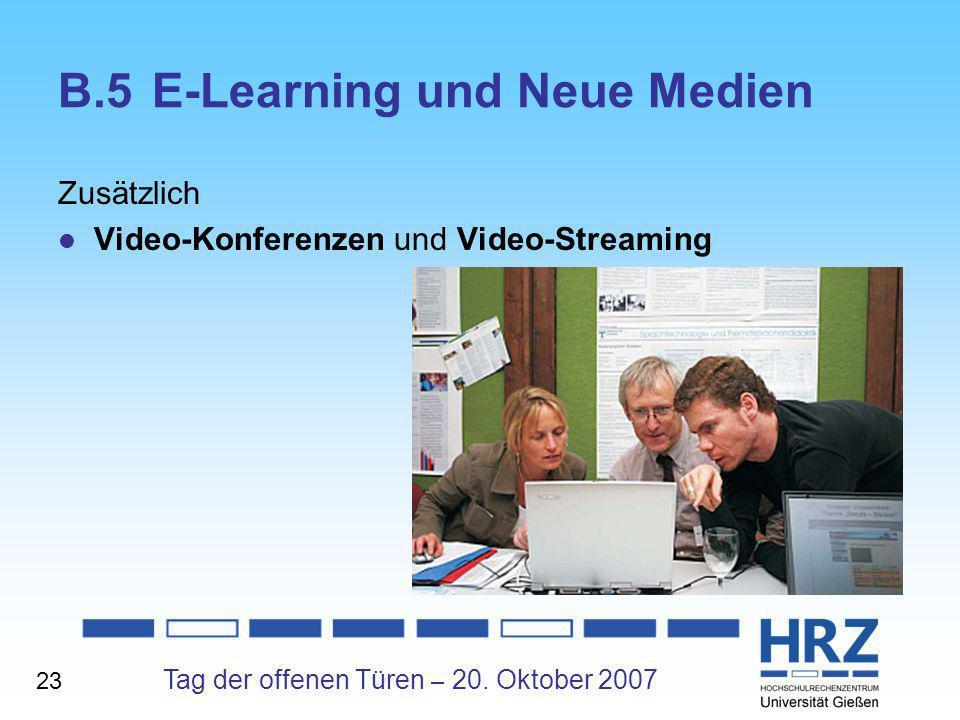 B.5 E-Learning und Neue Medien