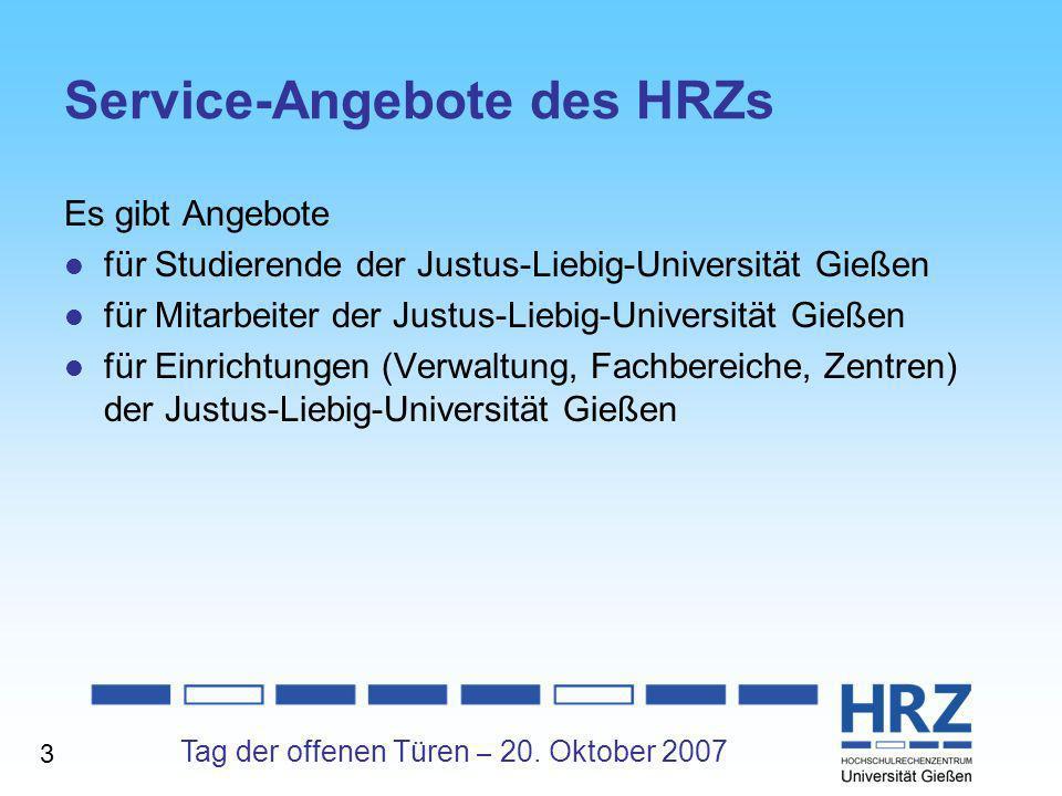 Service-Angebote des HRZs
