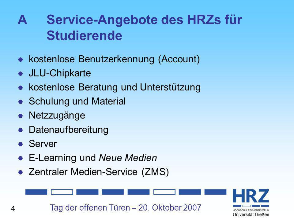 A Service-Angebote des HRZs für Studierende
