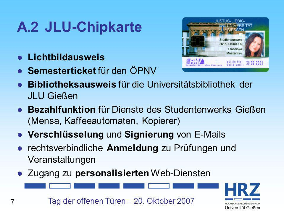 A.2 JLU-Chipkarte Lichtbildausweis Semesterticket für den ÖPNV