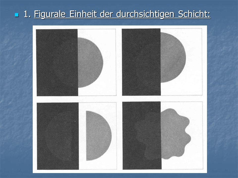 1. Figurale Einheit der durchsichtigen Schicht: