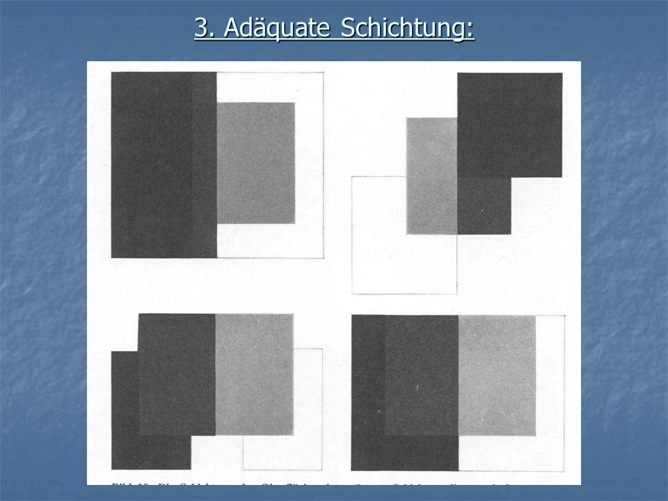 3. Adäquate Schichtung: