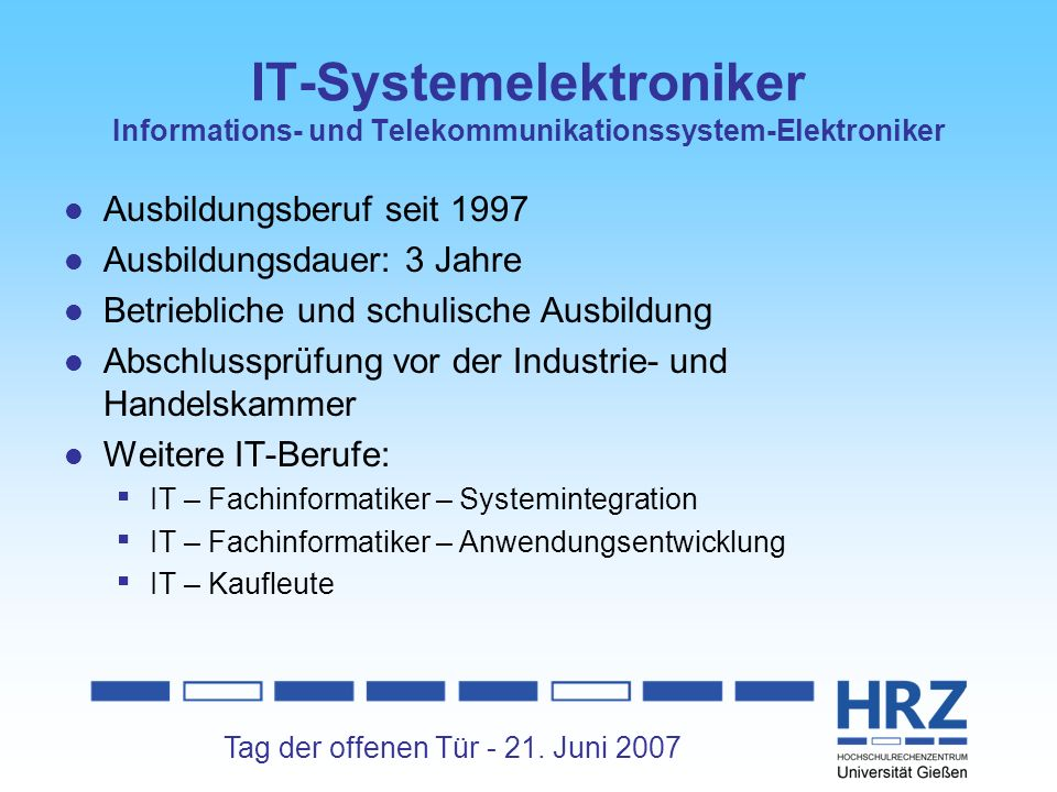 IT-Systemelektroniker Informations- und Telekommunikationssystem-Elektroniker