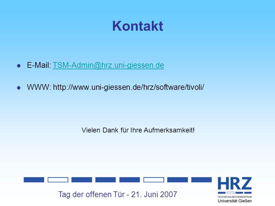Kontakt E-Mail: TSM-Admin@hrz.uni-giessen.de