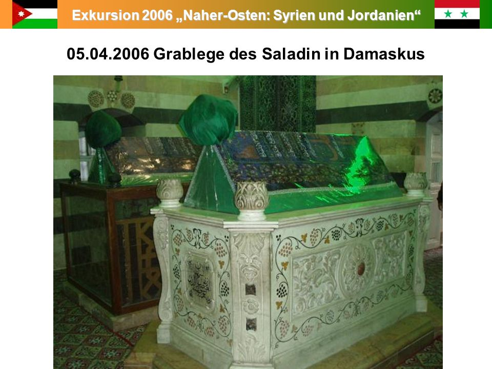 05.04.2006 Grablege des Saladin in Damaskus