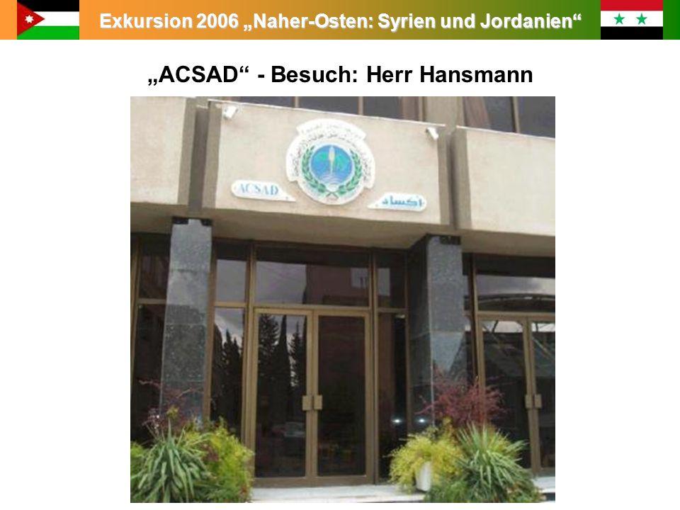 """""""ACSAD - Besuch: Herr Hansmann"""