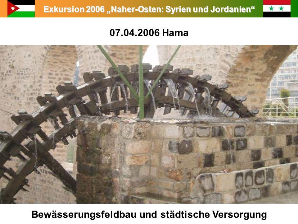 07.04.2006 Hama Bewässerungsfeldbau und städtische Versorgung