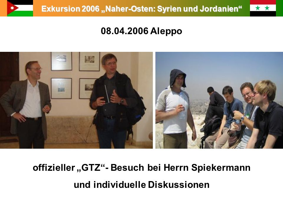 """offizieller """"GTZ - Besuch bei Herrn Spiekermann"""
