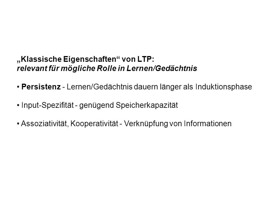 """""""Klassische Eigenschaften von LTP:"""