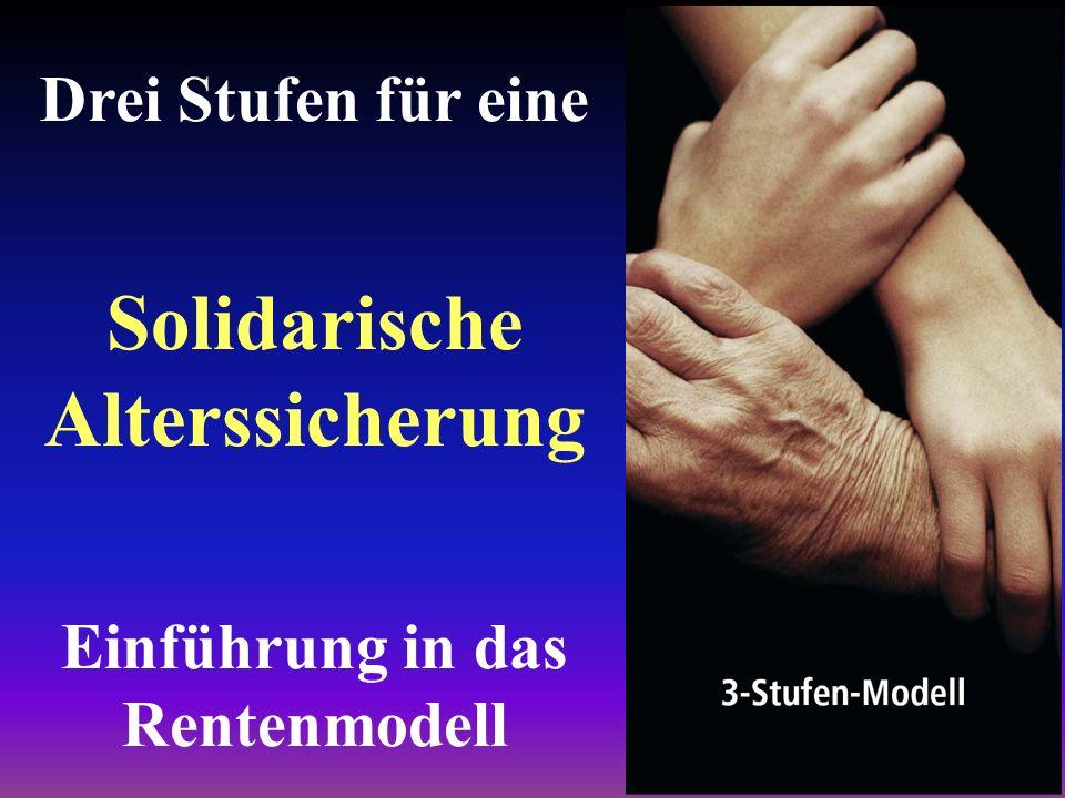 Solidarische Alterssicherung Einführung in das Rentenmodell