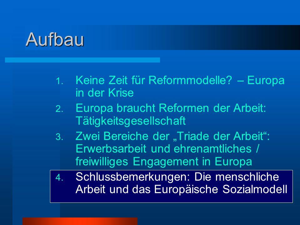 Aufbau Keine Zeit für Reformmodelle – Europa in der Krise