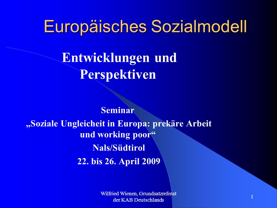 Europäisches Sozialmodell