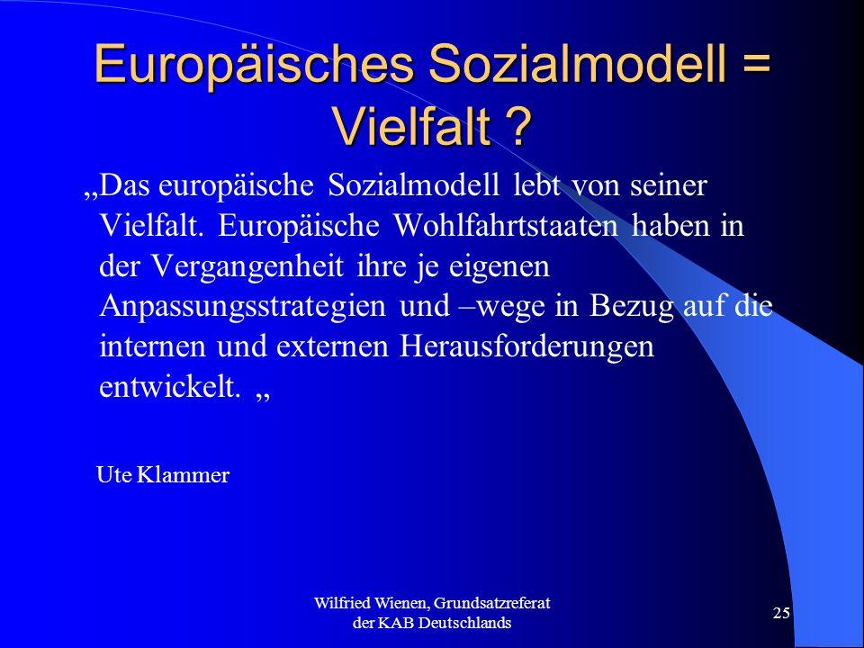 Europäisches Sozialmodell = Vielfalt