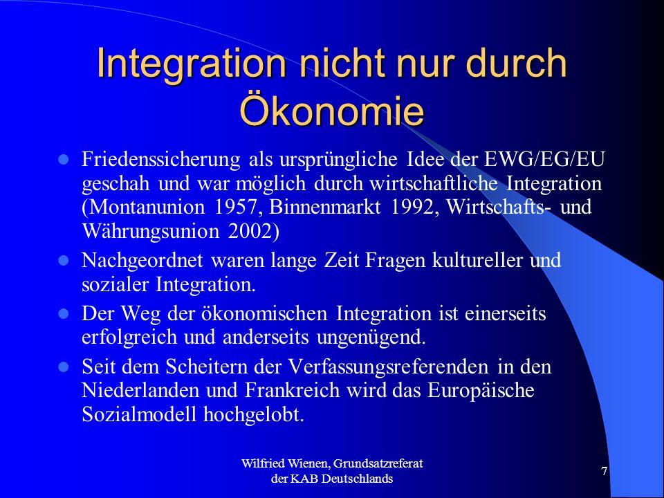 Integration nicht nur durch Ökonomie