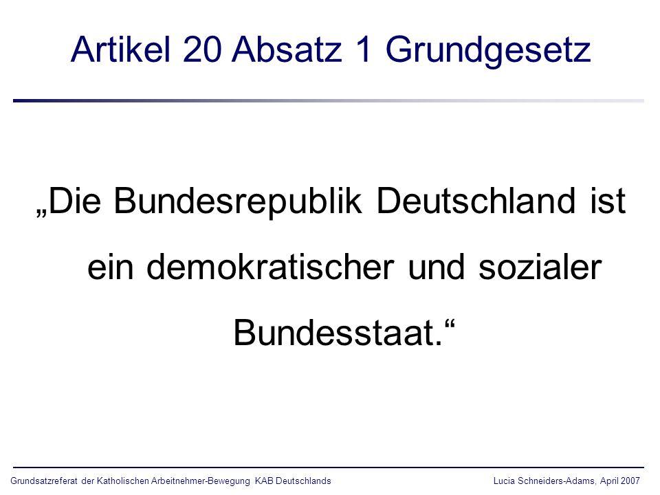 Artikel 20 Absatz 1 Grundgesetz