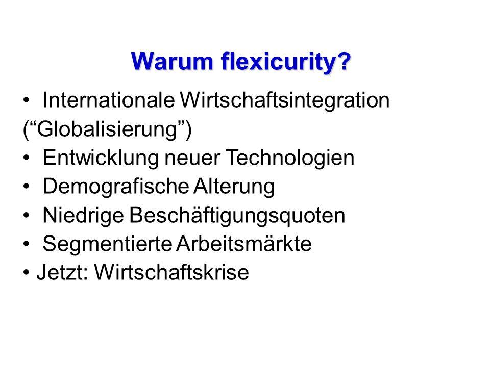 Warum flexicurity Internationale Wirtschaftsintegration ( Globalisierung ) Entwicklung neuer Technologien.