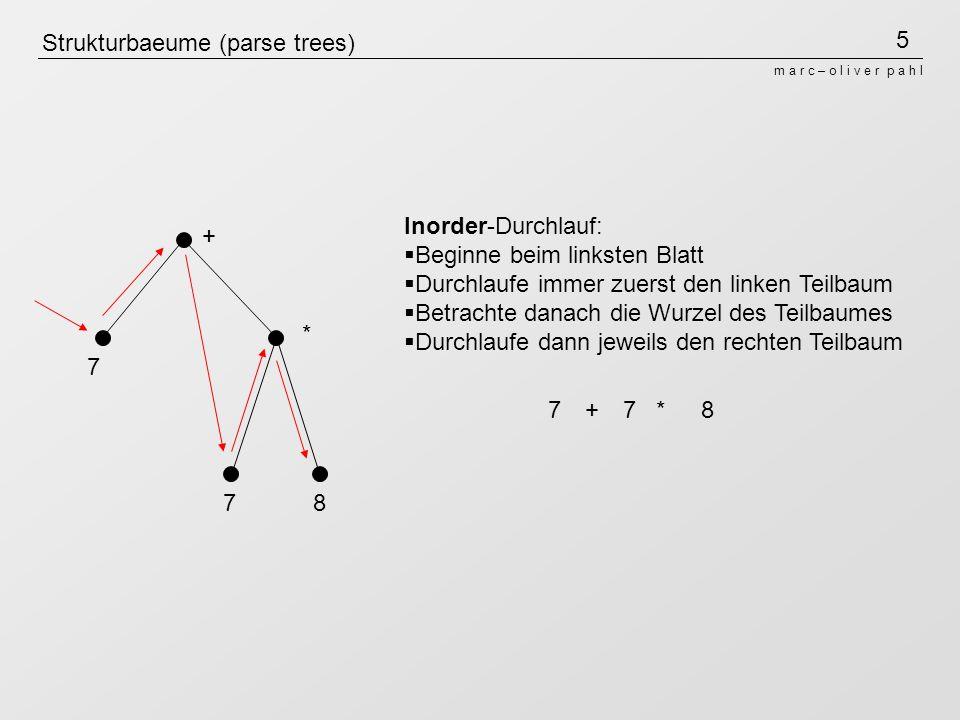 Strukturbaeume (parse trees)