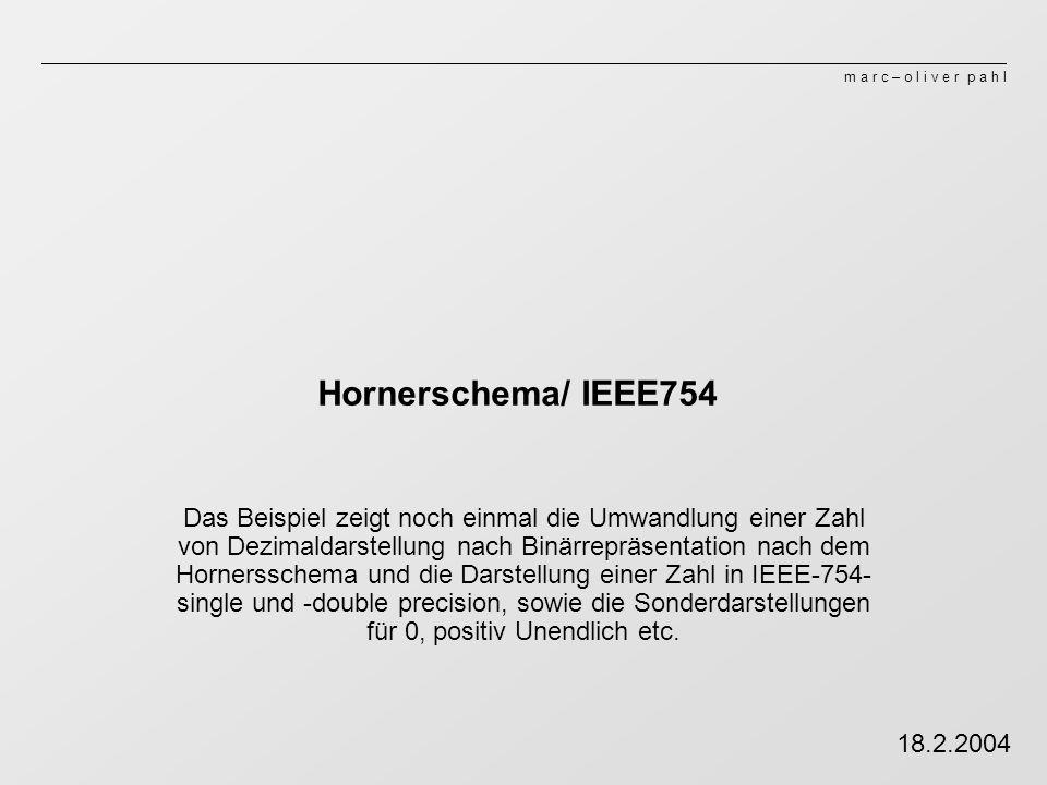Hornerschema/ IEEE754