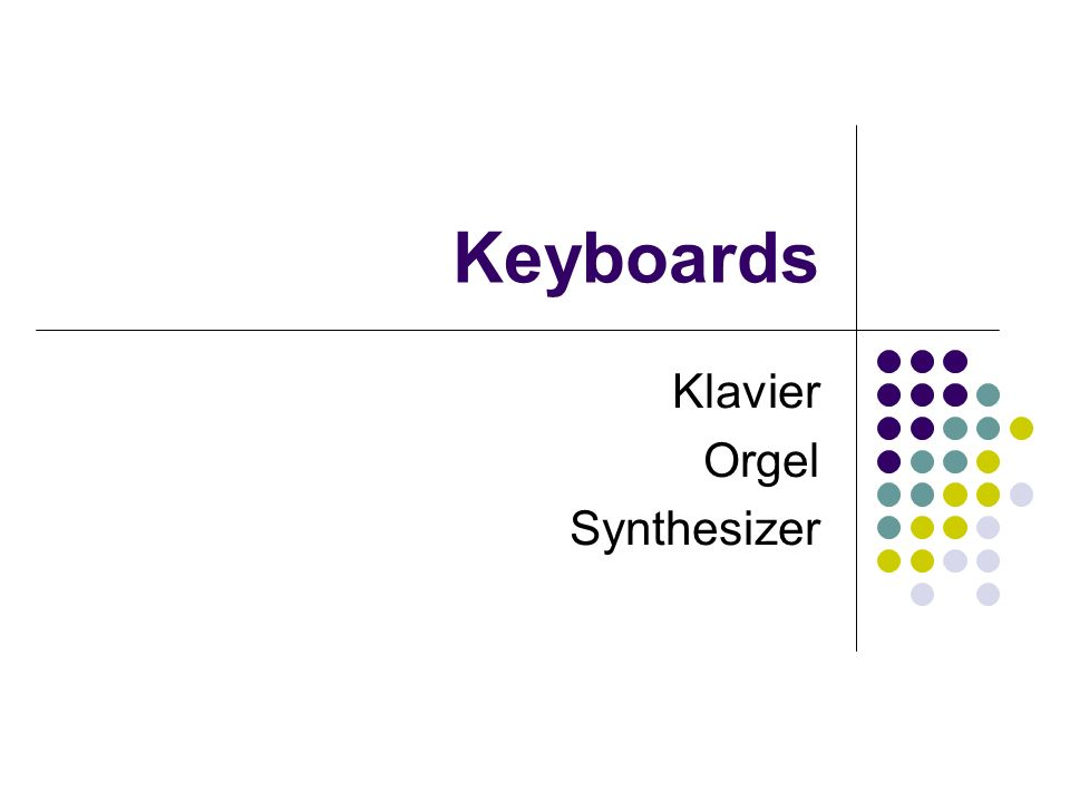 Klavier Orgel Synthesizer