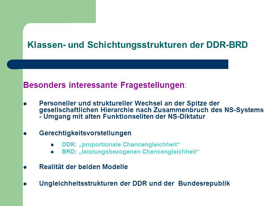 Klassen- und Schichtungsstrukturen der DDR-BRD