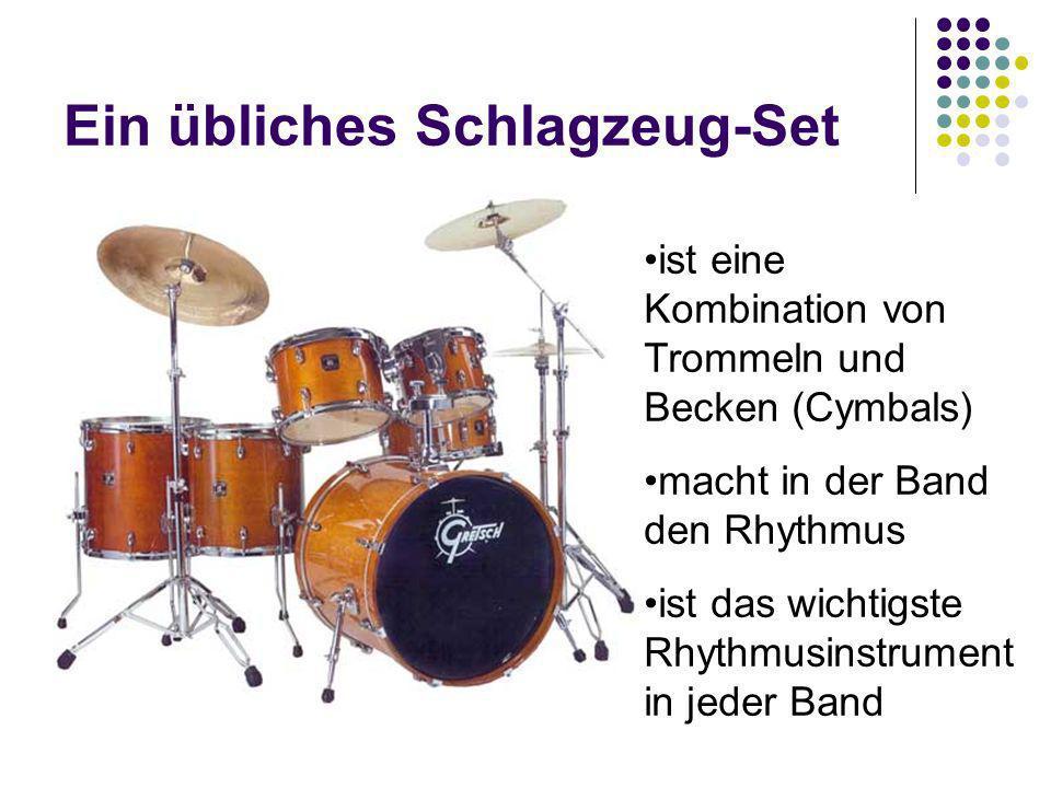 Ein übliches Schlagzeug-Set