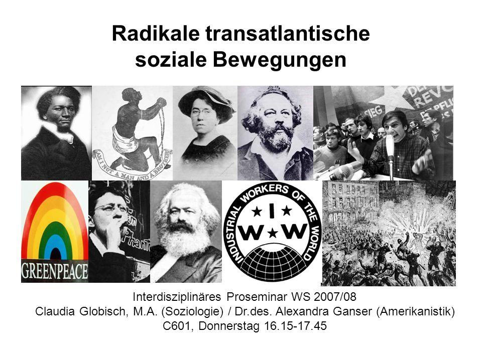 Radikale transatlantische soziale Bewegungen