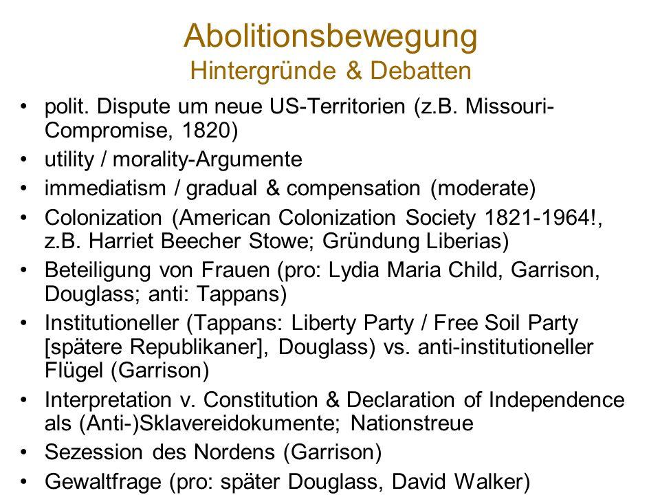 Abolitionsbewegung Hintergründe & Debatten