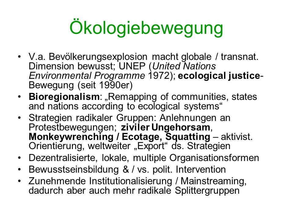 Ökologiebewegung