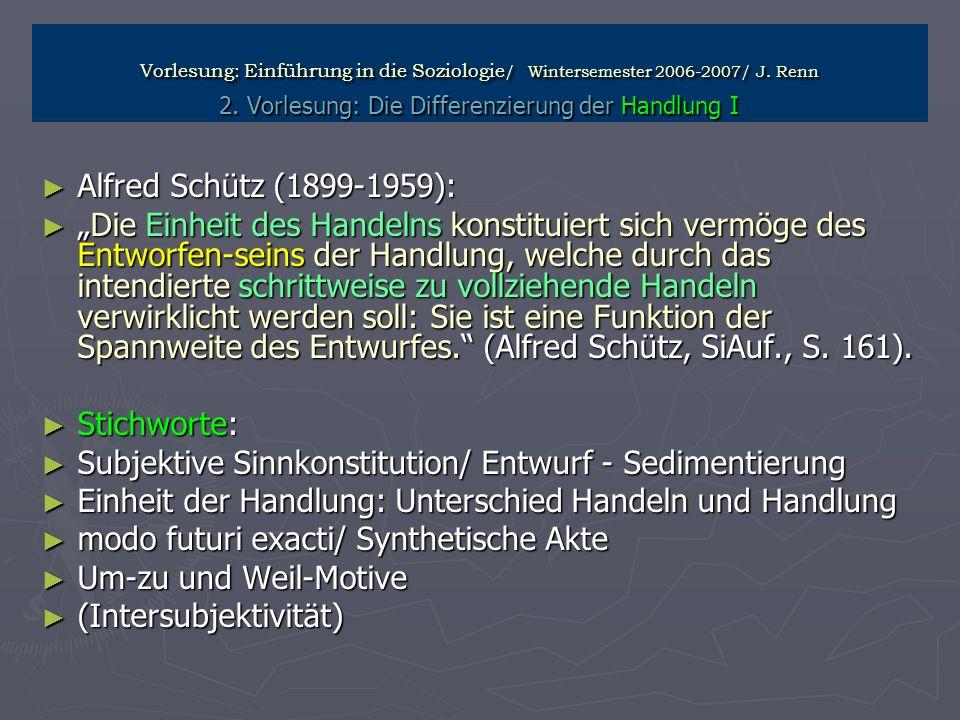 Subjektive Sinnkonstitution/ Entwurf - Sedimentierung