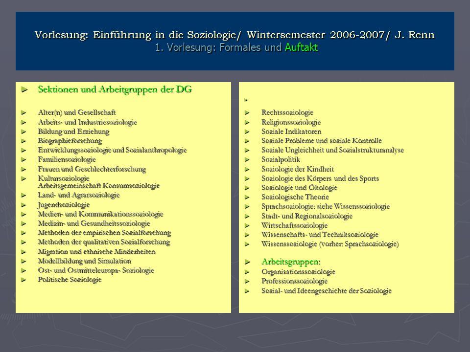 Sektionen und Arbeitgruppen der DG