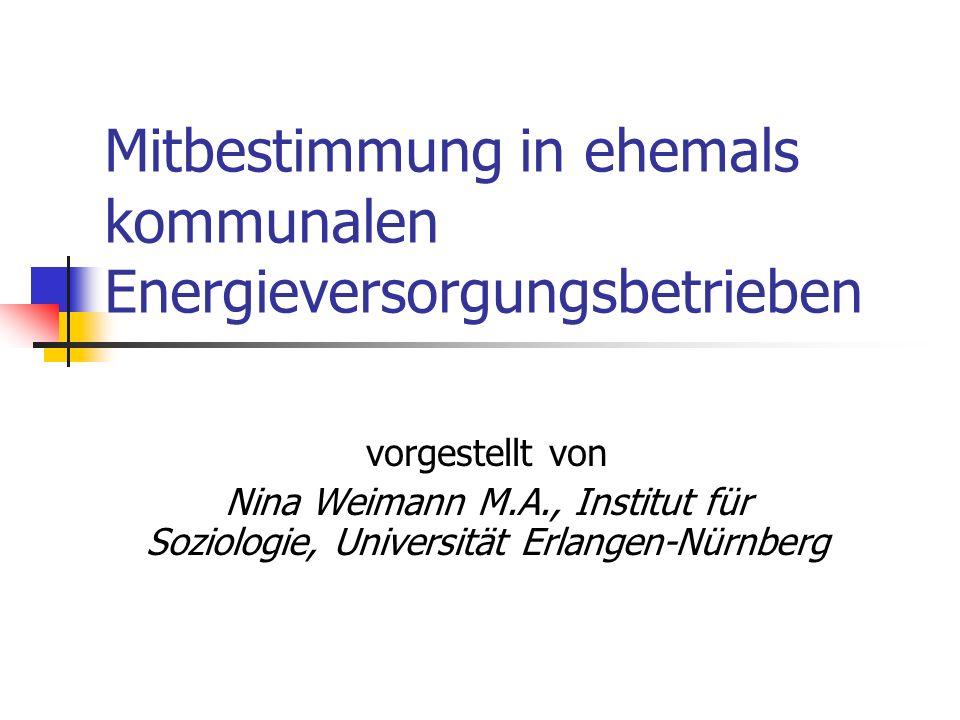 Mitbestimmung in ehemals kommunalen Energieversorgungsbetrieben