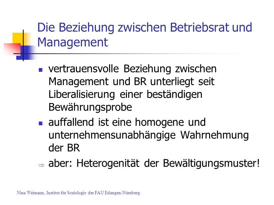 Die Beziehung zwischen Betriebsrat und Management